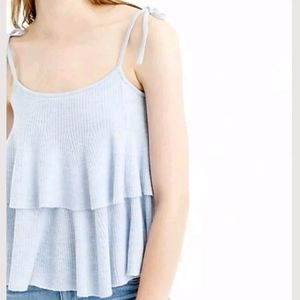 J Crew merino wool tiered knit tank top